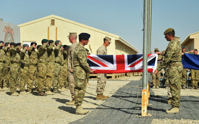 The British leaving Afghanistan