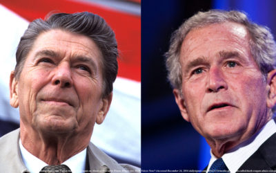 The Presidential Elections of  Ronald Reagan in 1980  &  George W. Bush in 2004