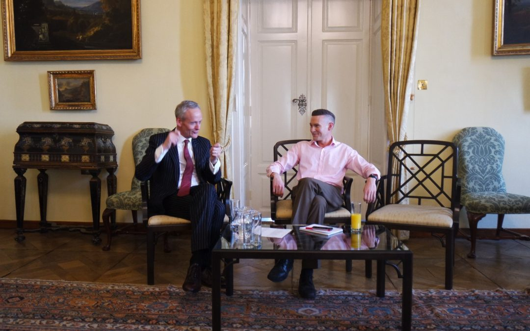 Discussion with Angus Stewart, Deputy Ambassador of The United Kingdom of Great Britain and Northern Ireland to the Czech Republic